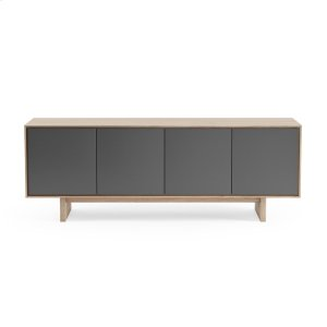 Quad Width Media Cabinet 8379 Gfl in Drift Oak -