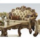 Gold Patina/bone Pu Loveseat Product Image