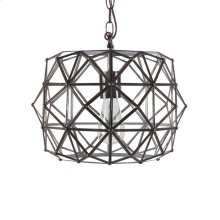 Tin & Clear Glass Pendant. Ul Approved for 1 60w Bulb.