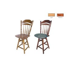 Spindle Back Solid Oak Barstool