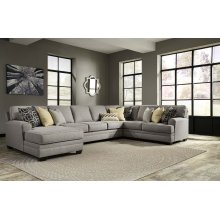 Cresson - Pewter Left Chaise, Right Loveseat, Wedge, Armless Sofa