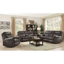 Sawyer Transitional Brown Motion Loveseat