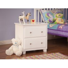 Atlantic 2 Drawer Night Stand in White
