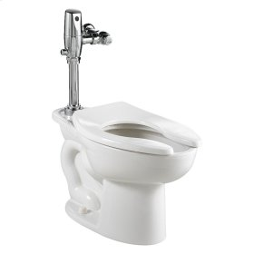 Madera EverClean Toilet with Selectronic Battery Flush Valve System - White