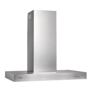 BroanBroan® 30-Inch Convertible Wall-Mount Chimney Range Hood, 450 CFM, Stainless Steel