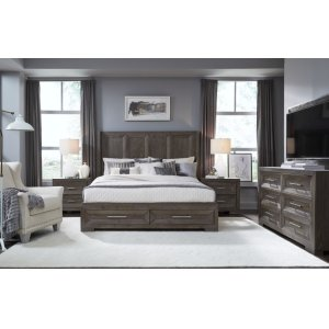 LEGACY CLASSIC FURNITUREFacets Shelter Bed w/ Storage Footboard, Queen 5/0