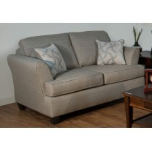 Vibrant Grey / Whirlwind Rhodium Loveseat