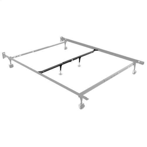 "Inst-A-Lift IL-1 Single Center Bed Support System with (2) 9"" Height Adjustable Glides and Clamp Assembly, Full / Queen"