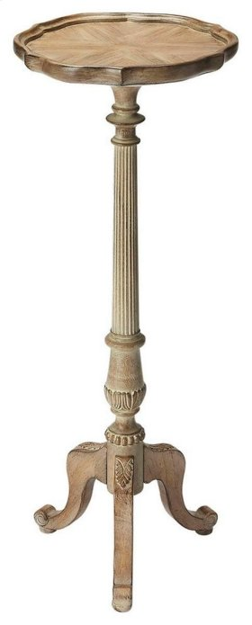 This Driftwood finish Pedestal Plant Stand is a stylish and decorative piece of furniture. This plant stand has a sleek, curvy design, which makes it look outstanding. It is an ideal choice for a transitional home setting.