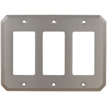 Triple Rocker Traditional Switchplate in (US15 Satin Nickel Plated, Lacquered)