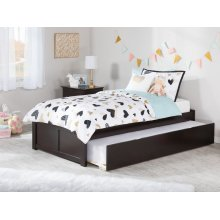 Concord Twin Flat Panel Foot Board with Urban Trundle Espresso