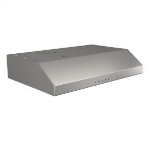 BroanBroan® 30-Inch Convertible Under-Cabinet Range Hood w/ LED Light, Stainless Steel