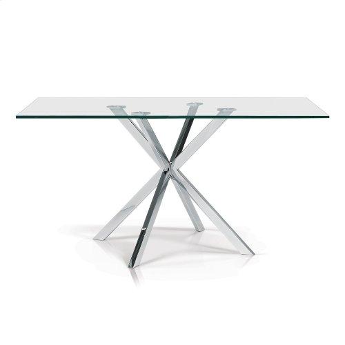 Darron Rectangular Glass Top Dining Table