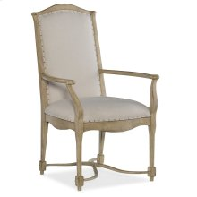 Dining Room Ciao Bella Upholstered Back Arm Chair-Natural