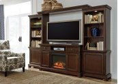 Porter - Rustic Brown 5 Piece Entertainment Set
