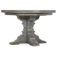 Dining Room Beaumont Round Dining Table with 48in Wood Top w/2-12in leaves