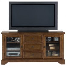 Media Unit W/ 3 Drawers, 4 Adjustable Shelves and Wire Management