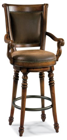 Bar and Game Room Waverly Place Memory Swivel Bar Stool