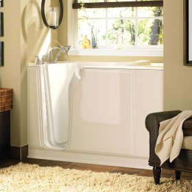 Gelcoat Value Series 30x52-inch Walk-in Tub with Air Spa System  American Standard - Linen