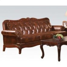 Dark Brown Leather Sofa