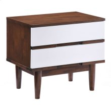 La Night Stand Walnut & White