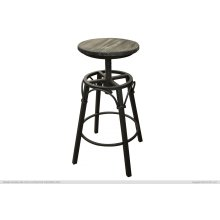 "24""-30"" Adjustable Height Iron Swivel Stool Moro finish"
