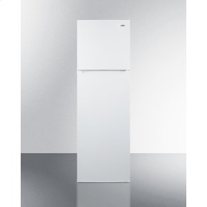 "SummitFrost-free Refrigerator-freezer In Slim 22"" Width, With Factory Installed Icemaker and White Finish"