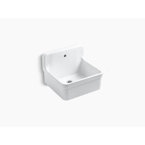 """White 24"""" X 22"""" Bracket-mounted Scrub-up/plaster Sink With Single Faucet Hole"""