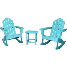 3-Piece All-Weather Rocking Adirondack Patio Set - Aruba