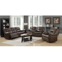 Layla Brown Reclining Loveseat