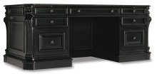 "Home Office Telluride 76"" Executive Desk w/Leather Panels"