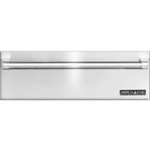 "American Range30"" Fully Integrated Stainless Steel Warming Drawer. Shown With Custom Wood Panel and ARWDH-30 Handle."