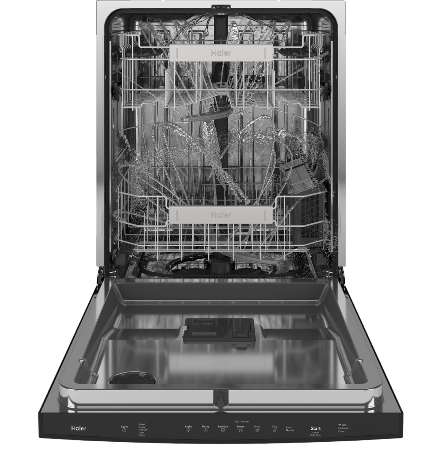 Smart Top Control with Stainless Steel Interior Dishwasher with Sanitize Cycle Photo #5