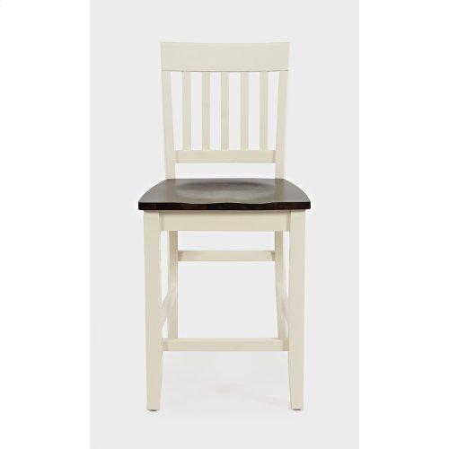Decatur Lane Counter Stool (2/ctn) - Autumn Brown/white