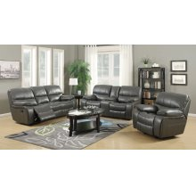 Banner Gray Leather Gel Recliner Chair