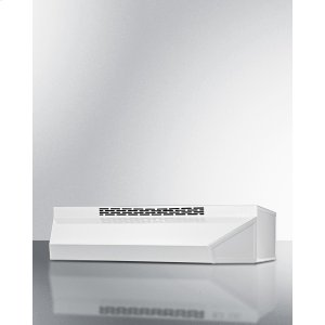 Summit24 Inch Wide ADA Compliant Ductless Range Hood In White Finish With Remote Wall Switch