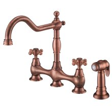 Chrome Opulence® Two Handle Bridge Faucet