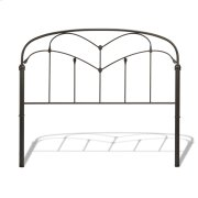 Pomona Metal Headboard Panel with Curved Grills and Detailed Posts, Hazelnut Finish, Queen Product Image