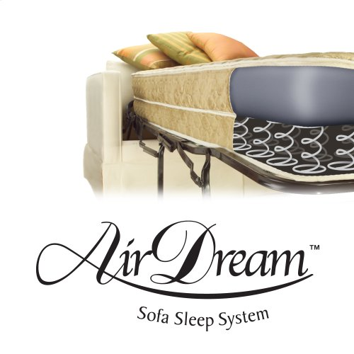 """AirDream Hypoallergenic Inflatable Mattress with Electric Hand Pump for Sleeper Sofas, 60"""" Queen XL"""