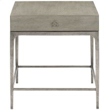 Linea End Table in Cerused Greige (384)