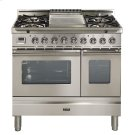 """36"""" - 5 Burner, Double Oven w/ Griddle in Stainless Steel Product Image"""