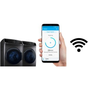 Monitor your laundry using your smartphone.*