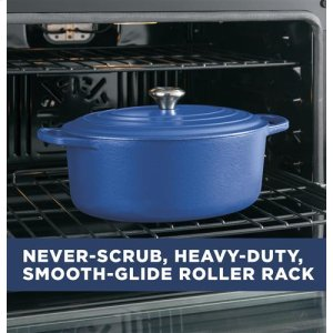 Never-scrub, heavy-duty smooth glide roller racks