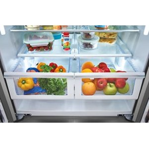 Effortless(TM) Glide Crisper Drawers