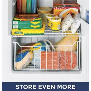 Slide-out freezer bins