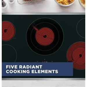 Five radiant cooktop elements