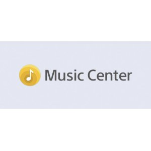 Customise your settings with the Sony  Music Center app