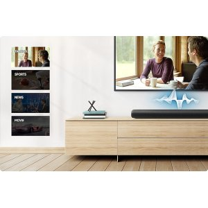 Room-filling sound in all-in-one design