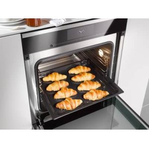 Stainless steel oven interior