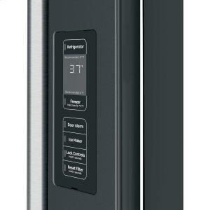 In-the-door controls with actual temperature display